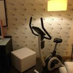 Exercise bike in room!
