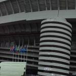View of the outside of the San Siro