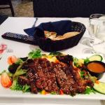 6 oz steak salad with Thai dressing