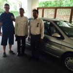 car with tour guide & driver