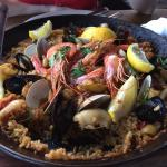 Paella, after I took a scoop!
