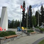 Gorgeous weather at Whistler Olympic Plaza