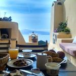 Last breakfast in Santorini at the Zoe.