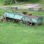Photo of wagon sign in yard