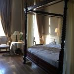 Our gorgeous four poster bed