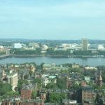 View of Newbury Street, the Charles River and Cambridge  from our room