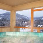 """The Private hot tub was an incredible luxury after a great day of playing in the mountains"""