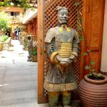 A real-life replica of the terracotta army at the front door