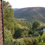 View over valley from kitchen