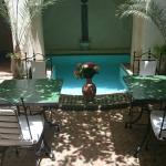 Courtyard where you have your breakfast, simply stunning. The small pool is lovely to cool off i
