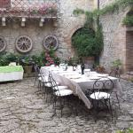 Beautiful courtyard for meals and celebrations.