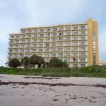 Beach view of Hotel