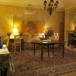 Moody and/or romantic formal dining area