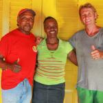 Zion Country crew: l to r: Owen, chef cook- Tamar, breakfast and cleaning- Free-I, Owner/manager