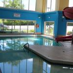 Super8 pool area slide pool area