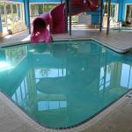 Super8 pool area slide pool at base