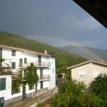 Sudden storm in Tonara - refreshed the hot August air, then a rainbow followed