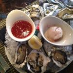 Lucious and fresh oysters served at the Bimoni restaurant at Peppermill.