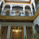 Looking up to the rooms in the upper areas from the courtyard