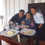 Big and good breakfast with amazing chef