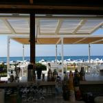 View through the bar towards the beach