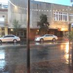 Watched Savannah go by on a rainy suumer night. This is the great-room between the lobby and bis