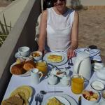 Breakfast on the roof terrace
