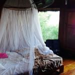 The mosquito net was adequate, but a bit dirty