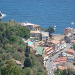 View on the hotel from Taormina