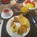 Typical breakfast at hotel