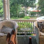 Even a summer storm was nice to watch from the porch with complimentary beer!