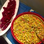 Citrus Beet Salad and Corn and Endamame Salad - two of our favorites