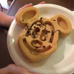 Mickey Mouse Waffels on offer for breakfast