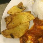 Side potato wedge - (pls see the pictures), its oily and was served with traces of insects, shou