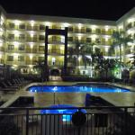 Poolside Exterior at night