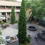 View of courtyard from my balcony