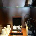 Coffe station in room
