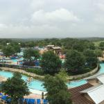 View to the water park