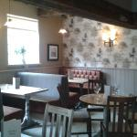 New booths in the bar/restaurant area
