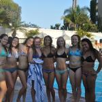 the girls at the pool!
