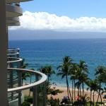 A view of Lanai in the distance from our balcony.