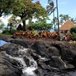 One of the waterfalls by the pool area.