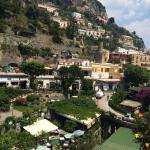 Rooftop terrace at Albergo Punta Regina.  No doubt the Nicest view in Positano. Especially from