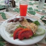 Delicious fish fillet was welcome addition to typical Costa Rican meals