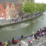 2015 Triathelon Bruges from our window (very cool)