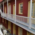 One of the courtyard balconies
