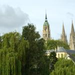 View of Bayeux Cathedral from Room 103