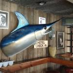 Big marlin on the wall, and watch out for that nose!