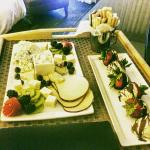 Room Service:  Cheese and chocolate covered strawberries