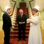 Ceremony at the back staircase